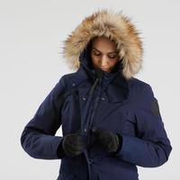 Veste de randonnée neige femme SH500 ultra-warm bleu-marine