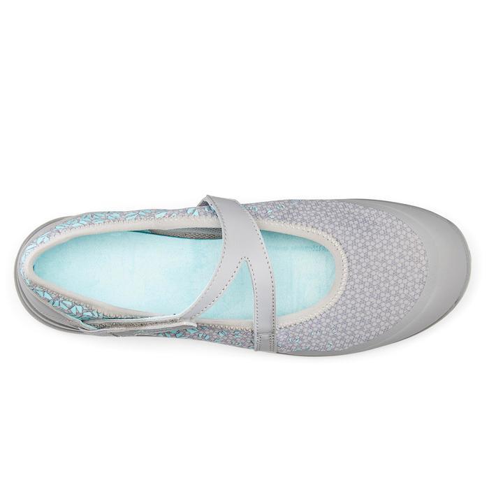 Dames ballerina's voor sportief wandelen PW 160 Br'easy grijs / turquoise