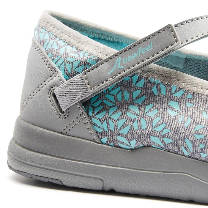 Ballerines marche sportive femme PW 160 Br'easy gris / turquoise