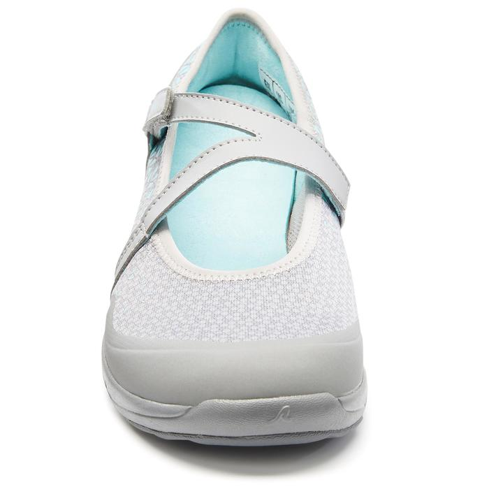 Ballerines marche urbaine femme PW 160 Br'easy gris / turquoise