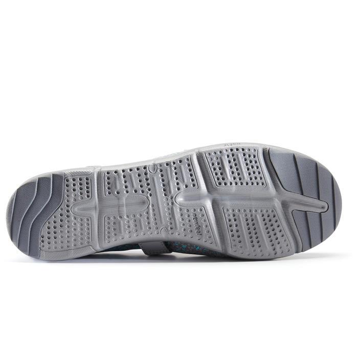 Giày pump ba-lê đi bộ fitness PW 160 Br'easy cho nữ - Xám/Ngọc lam