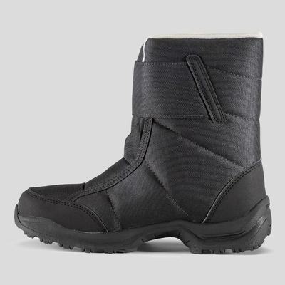 Bottes de randonnée neige enfant SH100 x-warm Noir