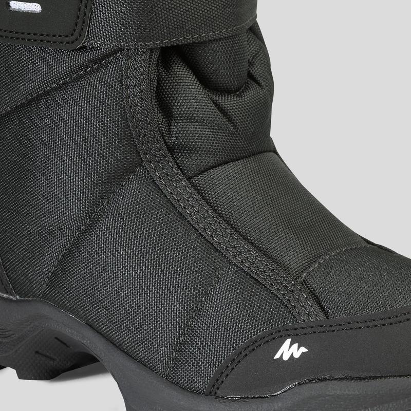 Bototos de hiking nieve niños SH100 x-warm negros