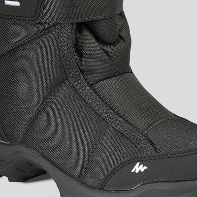 מגפיים חמים במיוחד להליכה בשלג מדגם SH100 לילדים - שחור