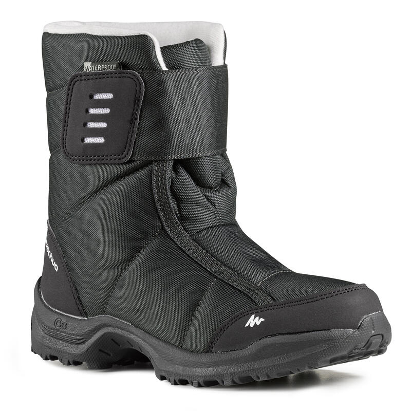 Bototos de hiking nieve niños SH100 x-warm negros