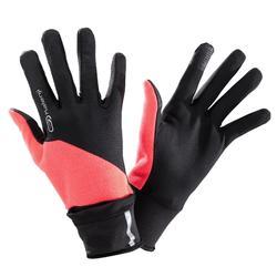 夜間跑步手套EVOLUTIV - 粉紅 附連指護套