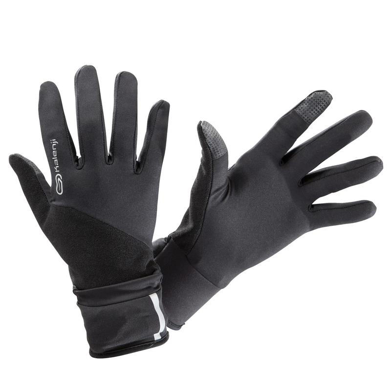 Gants de running avec moufle amovible - Evolutiv' noir