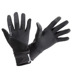 夜間跑步手套EVOLUTIV黑色,附連指護套