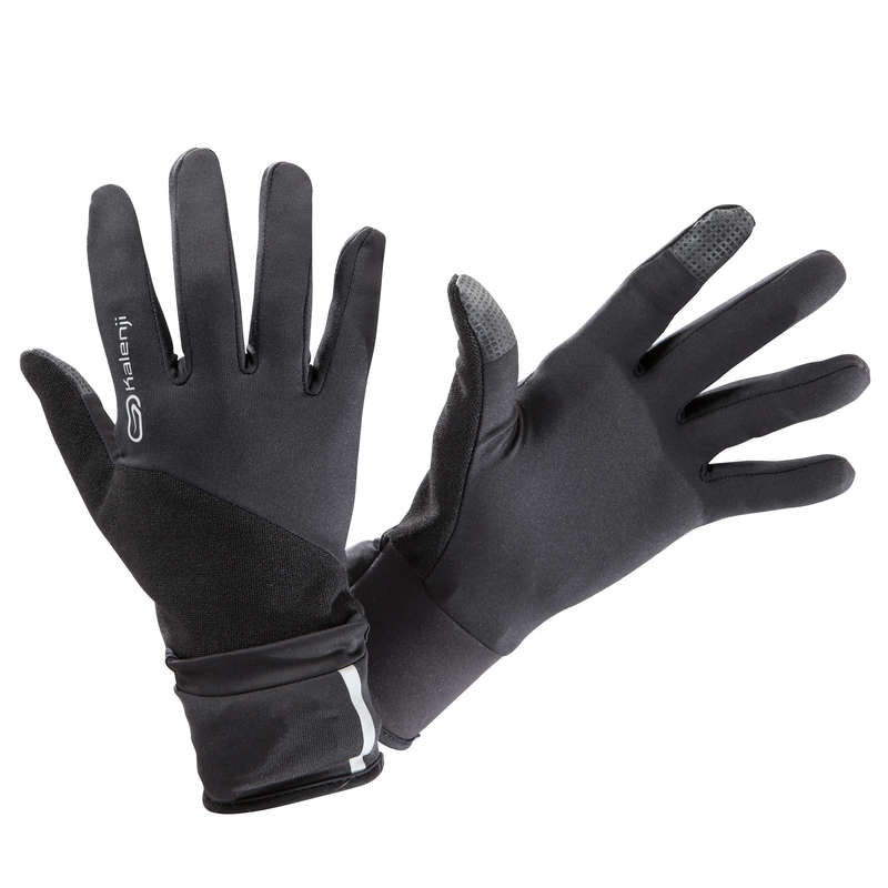 RUNNING COLD PROTECT ACCESSORIES Clothing  Accessories - EVOLUTIV BY NIGHT GLOVES BLACK KALENJI - Clothing  Accessories