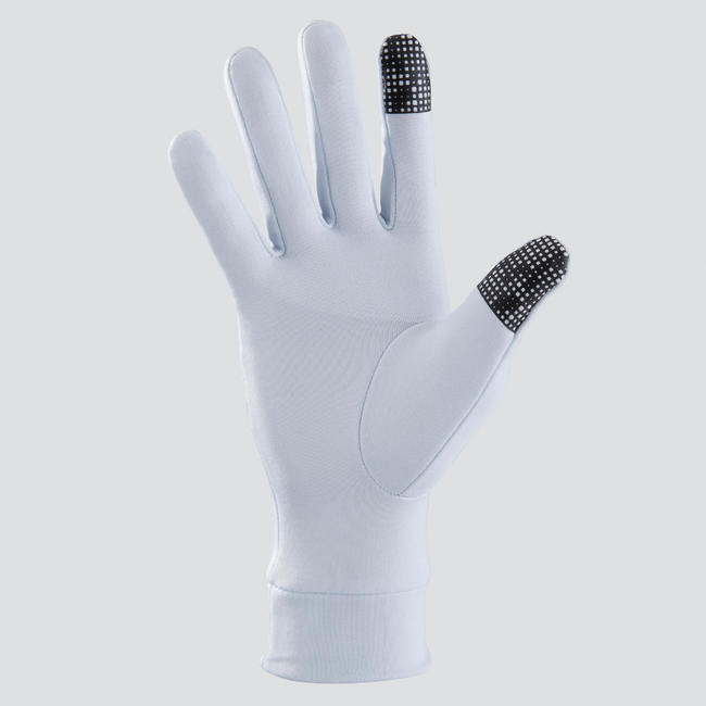 TACTILE RUNNING GLOVES - LIGHT GREY