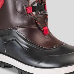 Leren wandellaarzen voor de sneeuw kinderen SH500 X-warm bruin