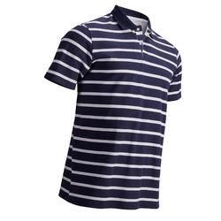 男款溫和氣候短袖高爾夫POLO衫-軍藍色及白色