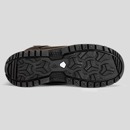 Chaussures de randonnée neige homme SH500 x-warm mi-hauteur marrons.