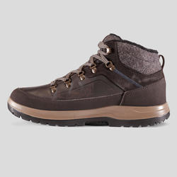 Men's x warm mid hiking snow shoes SH500 – maroon.