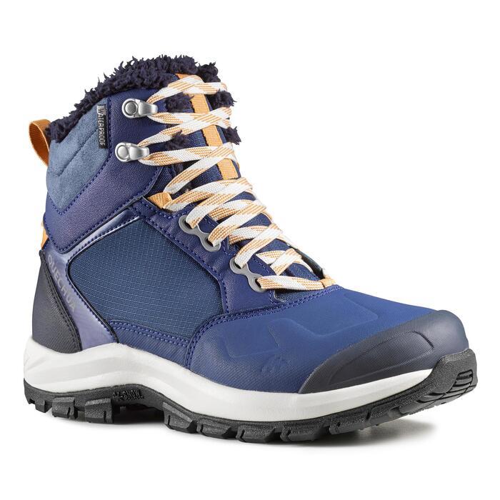 Women's Snow Hiking Boots SH520 X-Warm Mid - Blue