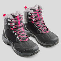 SH500 מגפיים אקטיביים חמים לנשים עמידים למים לטיפוס הרים בתנאי שלג - שחור