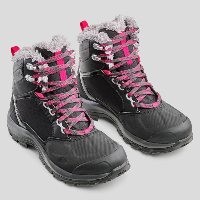 Snowboots dames SH520 X-warm mid zwart