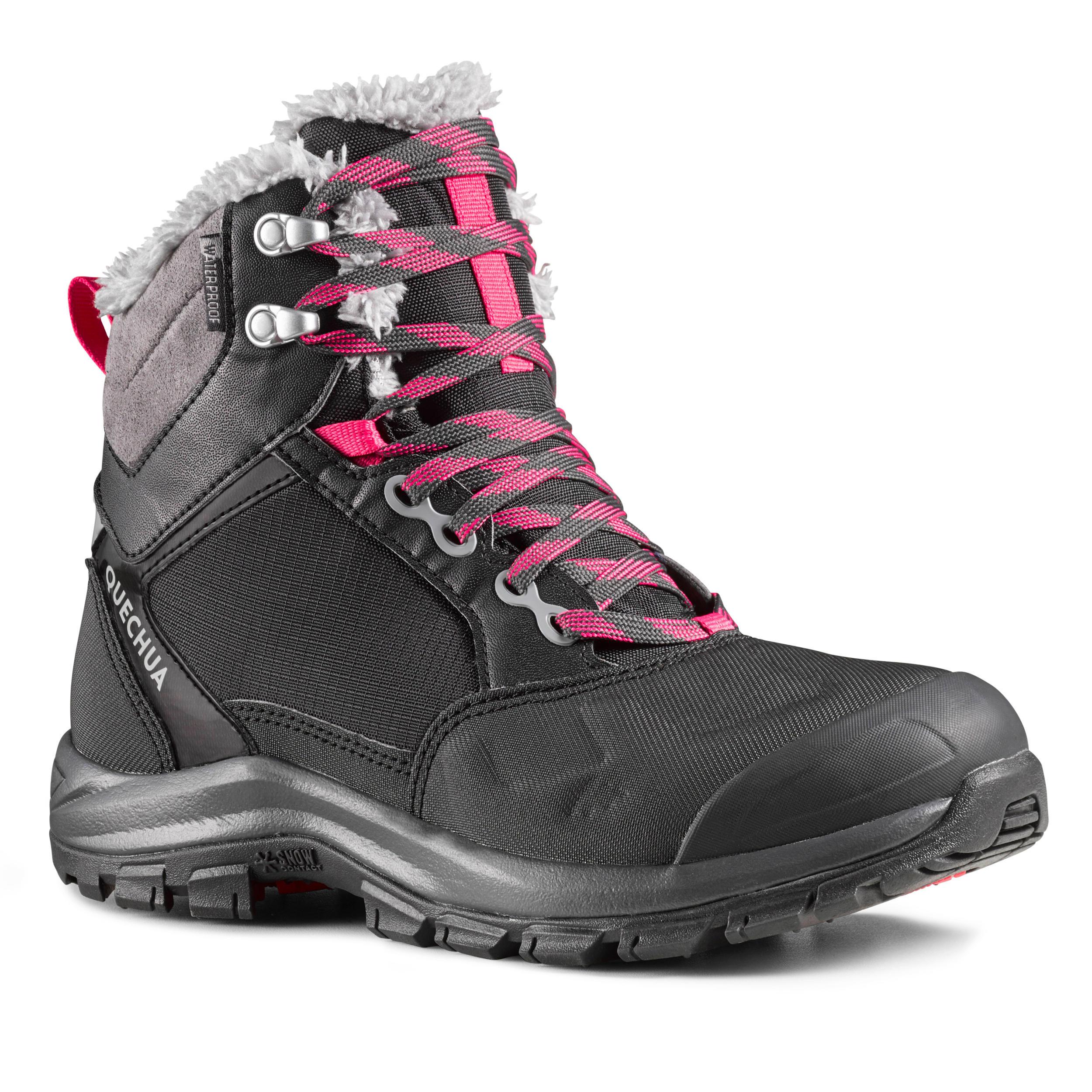 Chaussures de randonnée neige femme SH520 x,warm mid noir