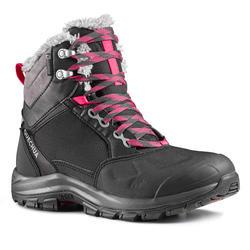 Winterschuhe Winterwandern SH520 X-Warm Wasserdicht Halbhoch Damen schwarz