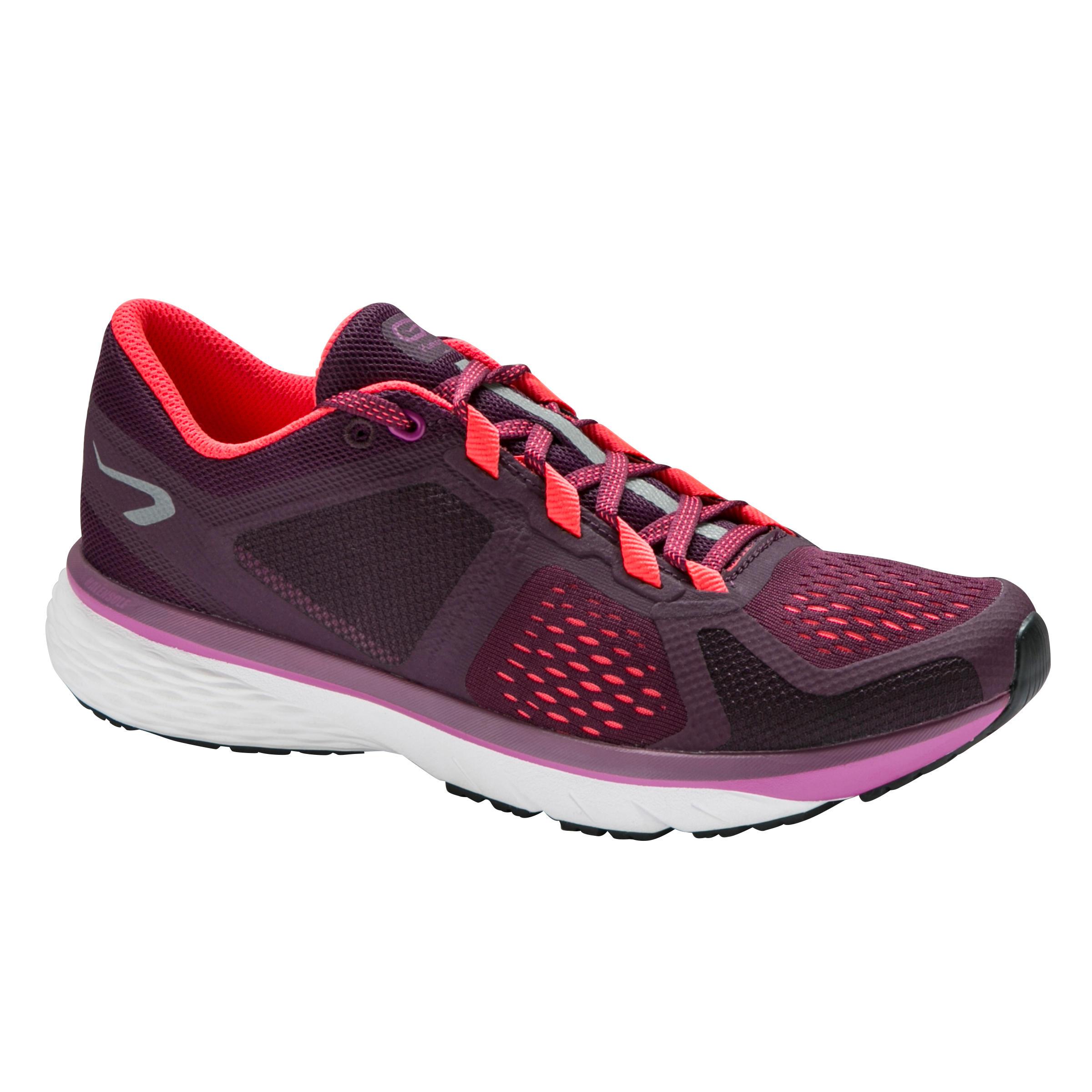 Kalenji Hardloopschoenen voor dames Run Support Control paars