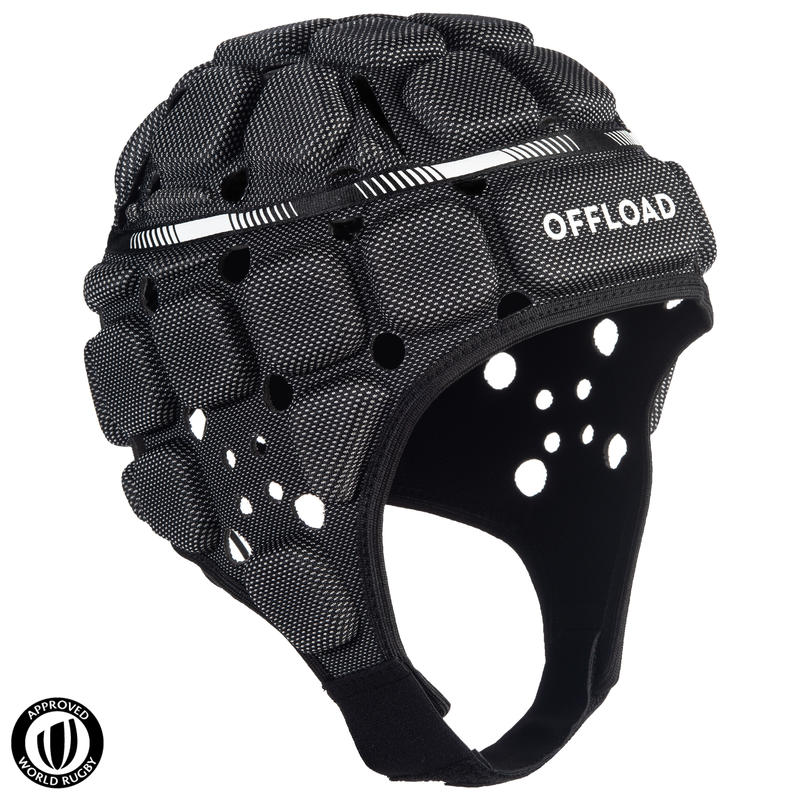 R900 Adult Rugby Scrum Cap - Black