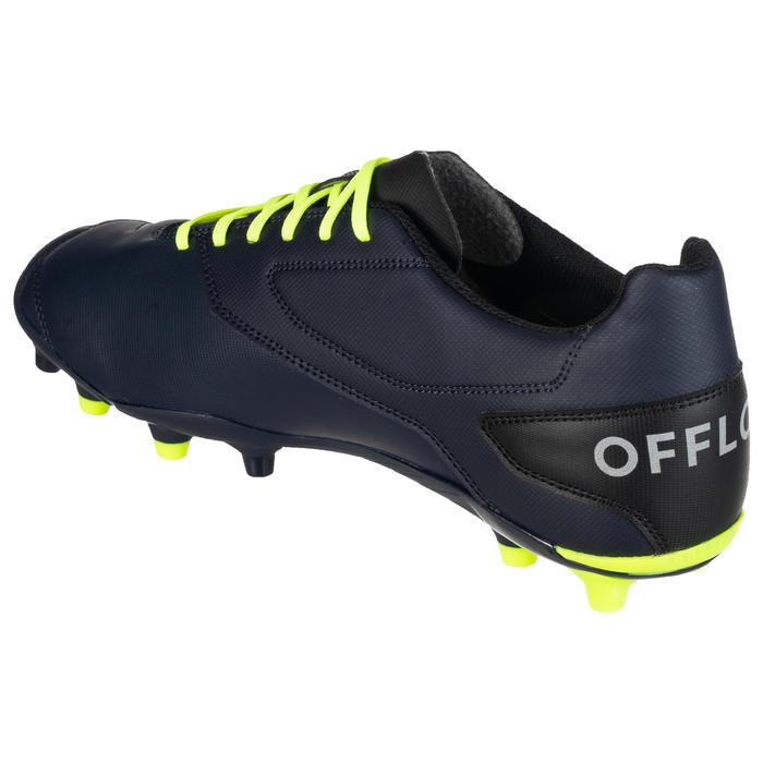 Botas de Rugby Offload Density R100 FG adulto azul y amarillo