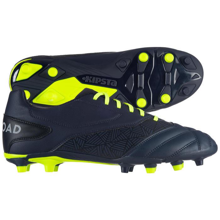 Rugbyschoenen Density R100 FG voor droog terrein blauw/geel