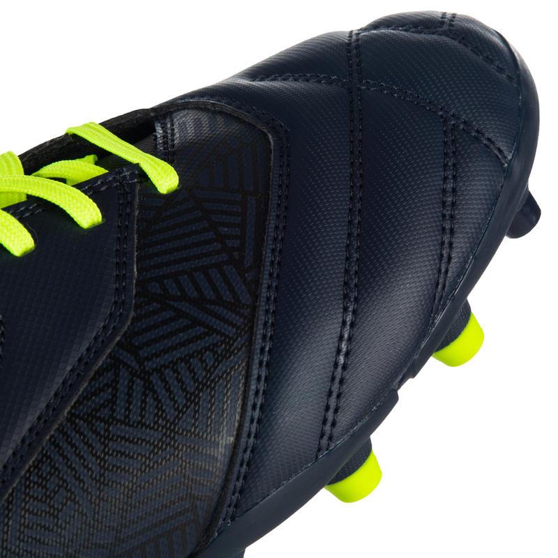 รองเท้ารักบี้สำหรับใส่เล่นบนพื้นสนามแน่นรุ่น Density R100 FG (สีน้ำเงิน/เหลือง)