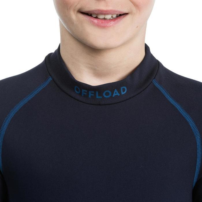 Thermoshirt met lange mouwen voor rugby kinderen R500 blauw