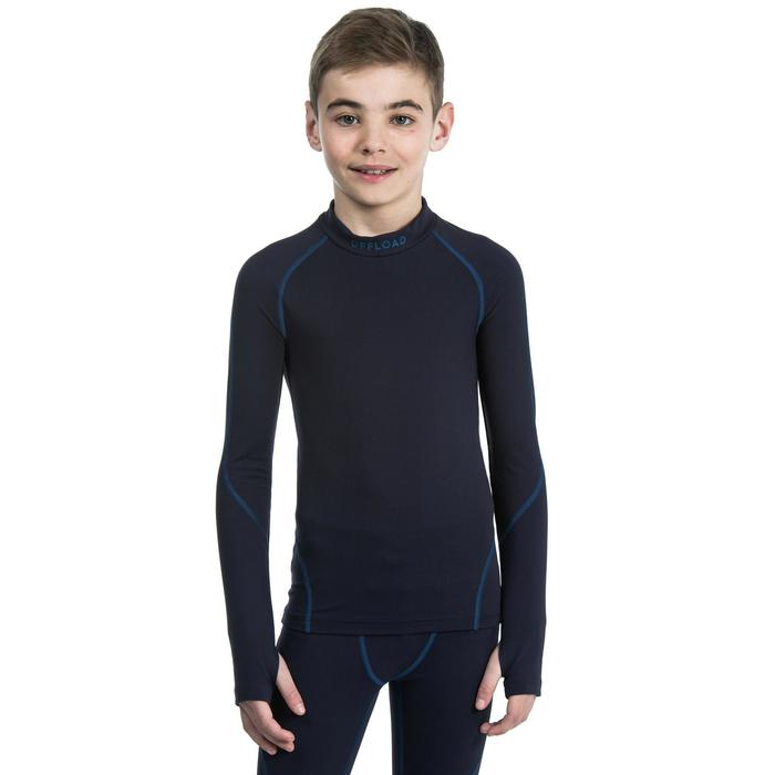 Camiseta térmica rugby Offload R500 niños azul