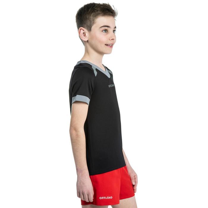 Maillot de rugby R100 enfant noir
