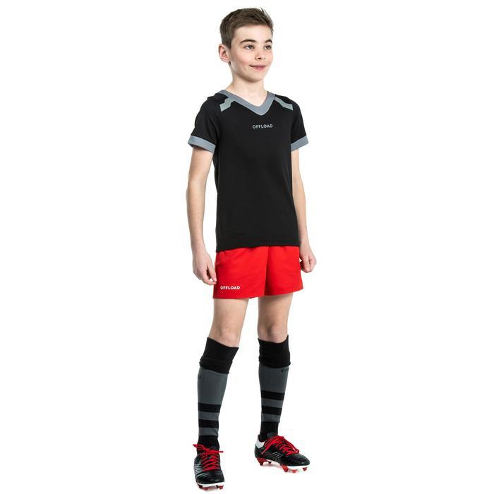 Camiseta Rugby Offload 100 niños negro