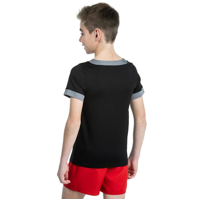 Rugbyshirt R100 voor kinderen zwart