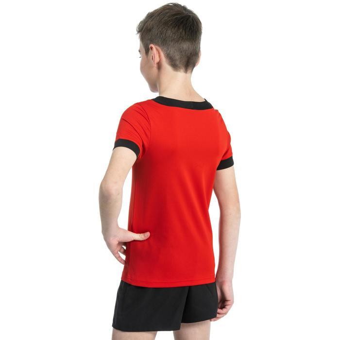 Rugbyshirt voor kinderen R100 rood