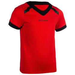 Rugbyshirt voor kinderen 100 rood