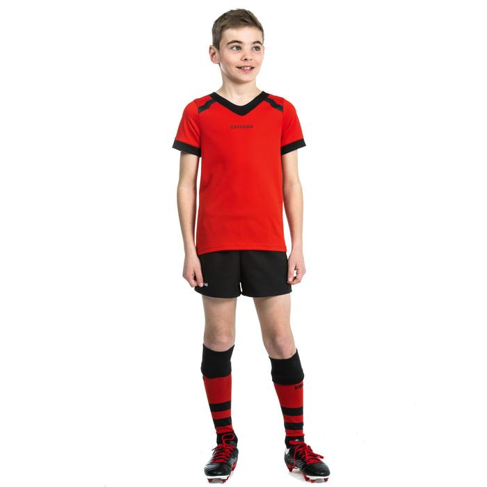 Maillot de rugby R100 enfant rouge
