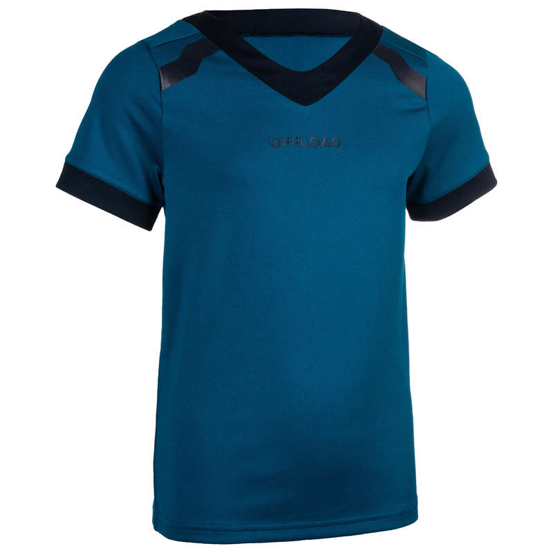 HABILLEMENT JUNIOR Sport di squadra - Maglia rugby junior R100 blu OFFLOAD - Abbigliamento Rugby