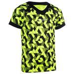 Offload Rugbyshirt voor kinderen R100 geel/zwart