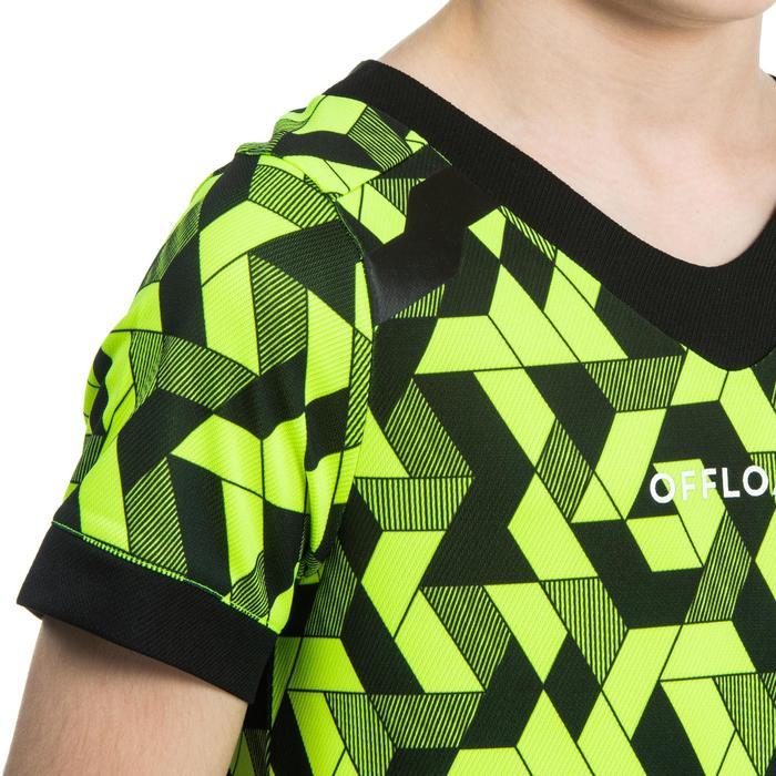Camiseta Rugby Offload 100 niños amarillo y negro