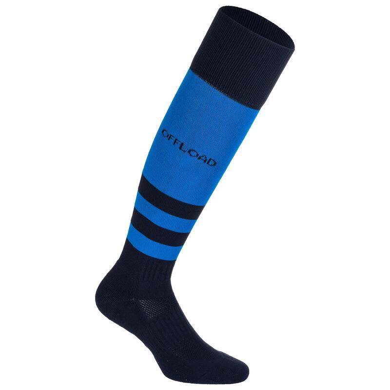 Calzettoni lunghi rugby R500 blu