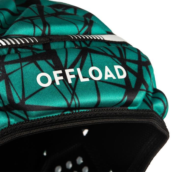 Casque rugby 500 adulte vert/noir