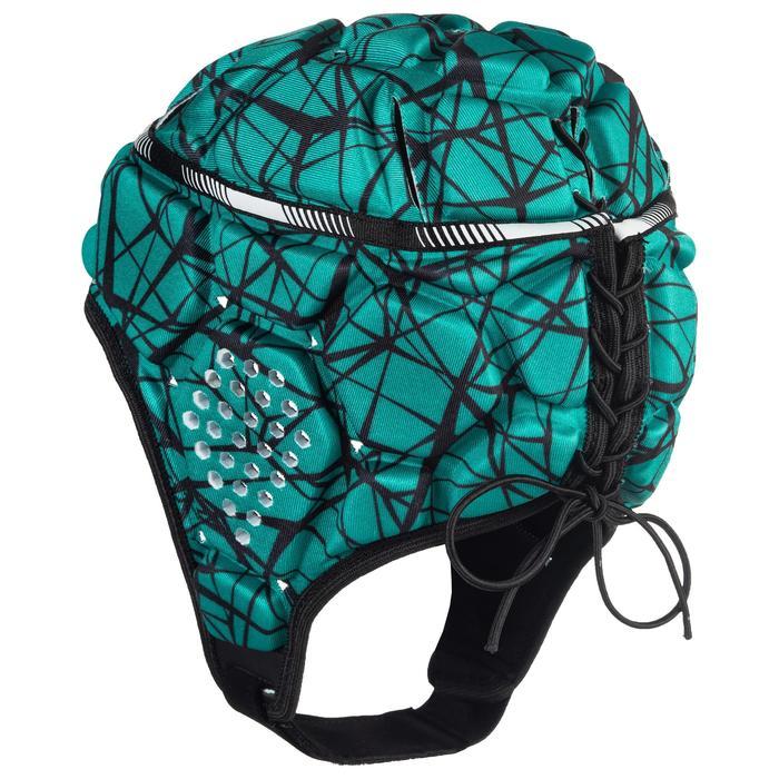 Kopfschutz Rugby R500 Kinder grün/schwarz