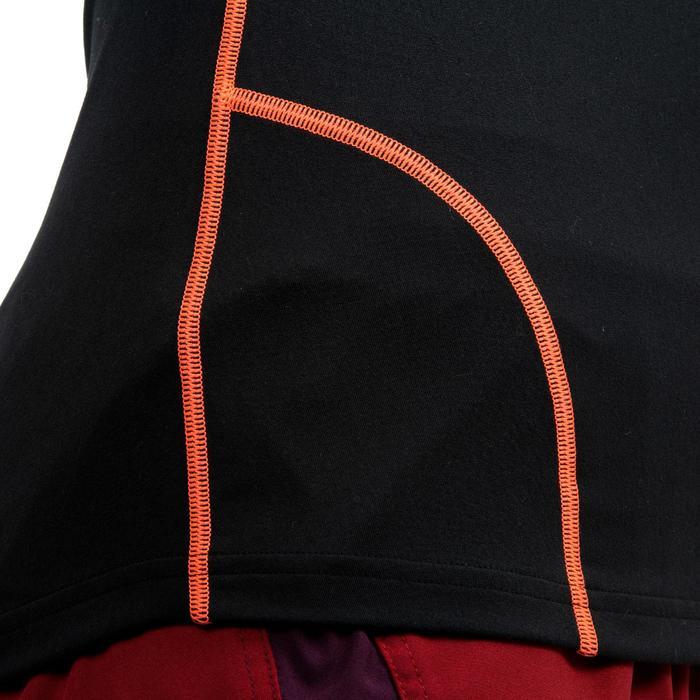 SOUS MAILLOT MANCHES LONGUES de RUGBY 500 Femme Noir/Corail