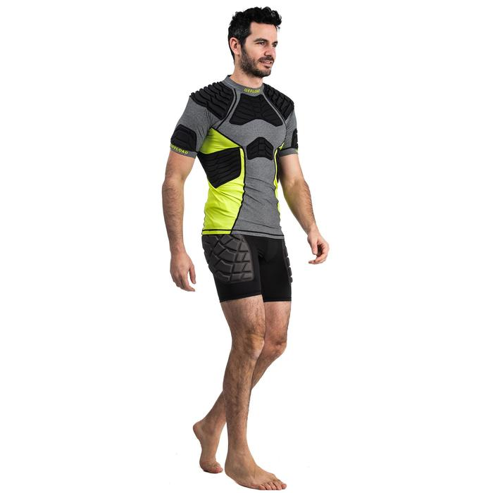 Protector-Shorts Rugby R500 Herren schwarz/gelb
