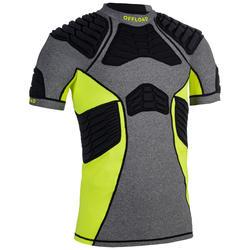 Shoulder pad voor rugby R900 heren grijs geel