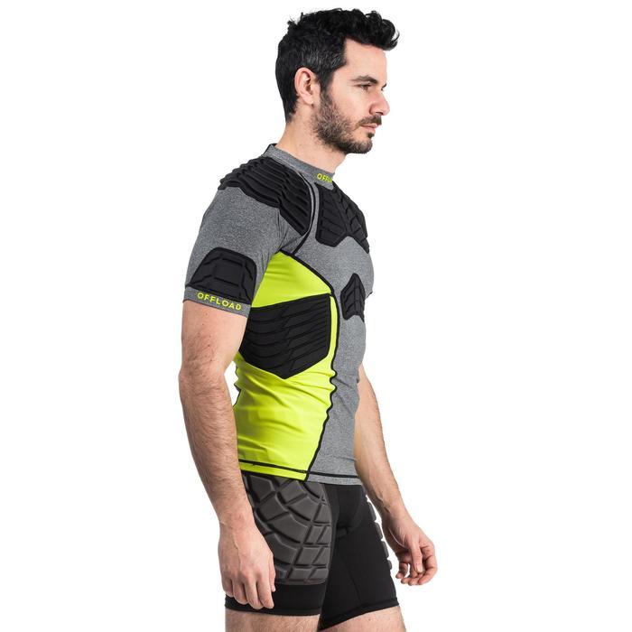 Épaulière rugby homme R900 grise jaune