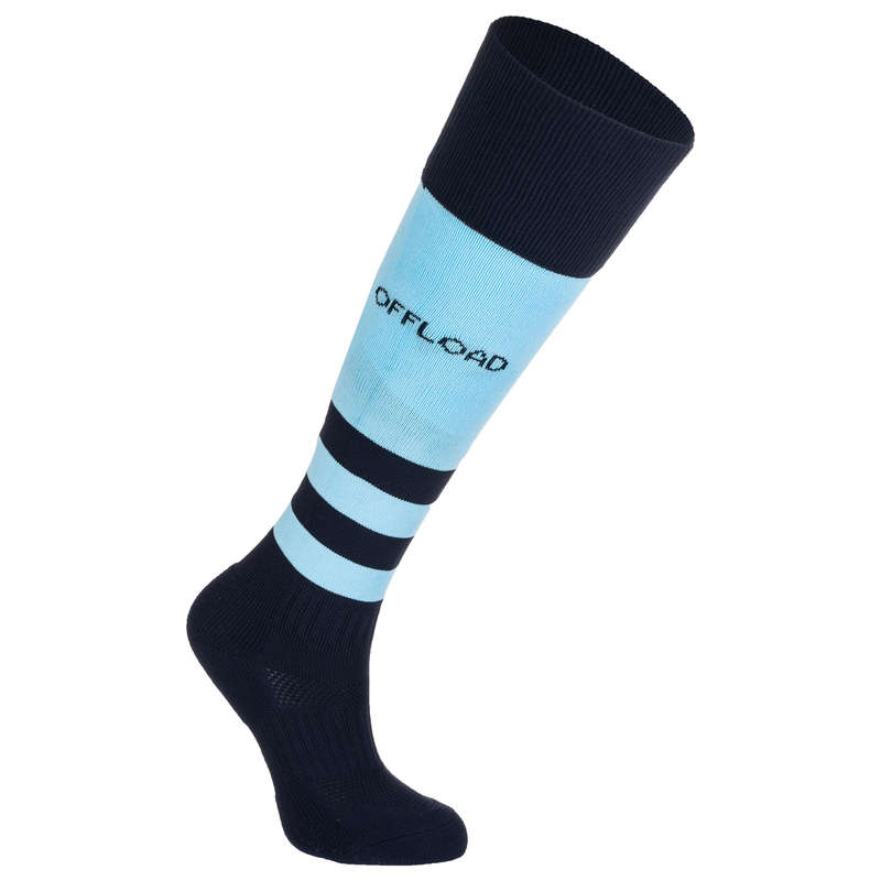 RUGBY WOMAN Rugby - Women's Socks R500 - Blue OFFLOAD - Rugby Clothing