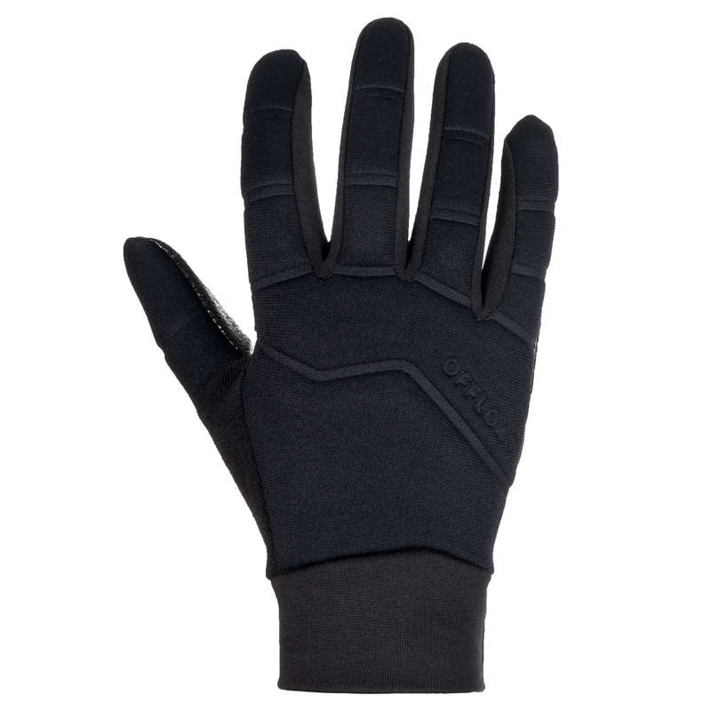 APPAREL RUGBY COLD WEATHER JUNIOR Rugby - Junior Full Gloves R500 Black OFFLOAD - Rugby Clothing