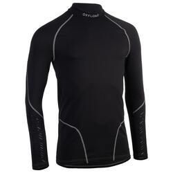 Camisola Térmica de Rugby de Mangas Compridas R500 Homem Preto