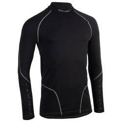 Sous maillot manches longues rugby R500 homme noir